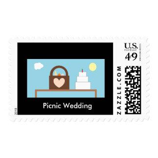 Picnic Wedding Postage Stamp