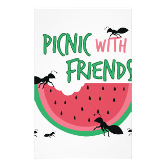 Picnic With Friends Stationery