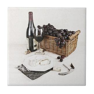 picnic with wine ceramic tile