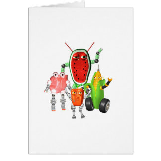 PicnicBots are funny food robots Card