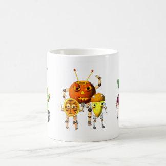 PicnicBots are funny food robots Classic White Coffee Mug