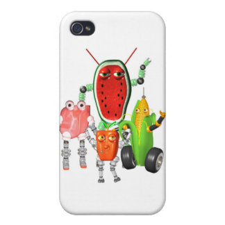 PicnicBots are funny food robots iPhone 4/4S Cases