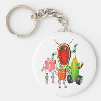 PicnicBots are funny food robots Keychain