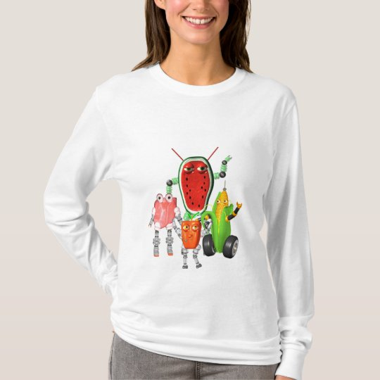 PicnicBots are funny food robots T-Shirt