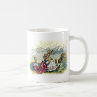 Picnicing Rabbits Coffee Mug