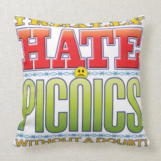 Picnics Hate Face Throw Pillows