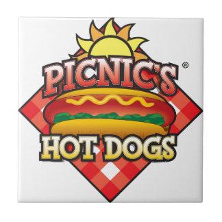 Picnic's Hot Dogs Logo Tile