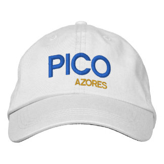 Pico* Azores Colorful Hat  Pico Açores chapeau Embroidered Hat