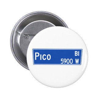 Pico Boulevard, Los Angeles, CA Street Sign Pin