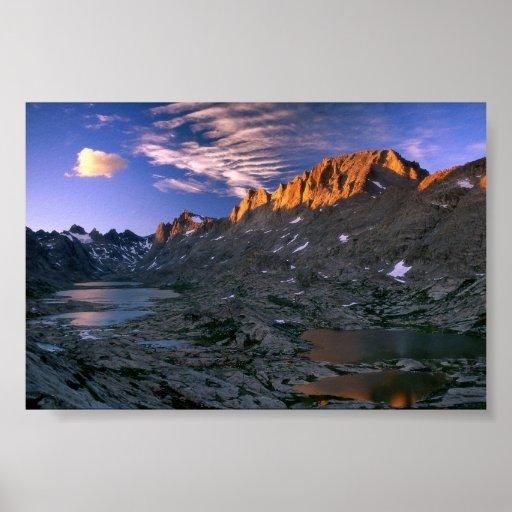 Pico de Fremont, Wyoming Póster