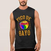 PICO DE GAYO LGBT Pride Month LGBTQ Rainbow Flag Sleeveless Shirt