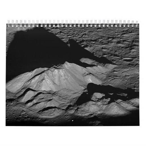 Pico de la central del cráter de Tycho de la luna  Calendario De Pared
