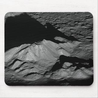 Pico de la central del cráter de Tycho de la luna Tapetes De Ratón