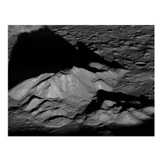 Pico de la central del cráter de Tycho de la luna  Tarjetas Postales