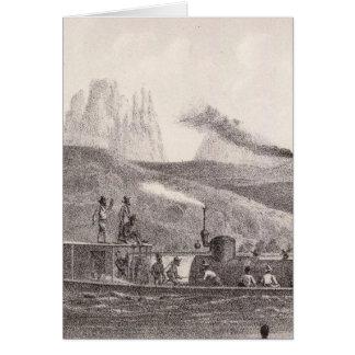 Pico de la chimenea tarjeton