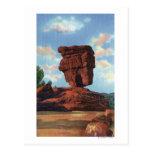 Pico de los lucios, Colorado - roca equilibrada Tarjetas Postales