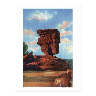 Pico de los lucios, Colorado - roca equilibrada Tarjeta Postal