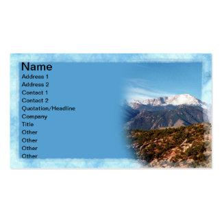 Pico de los lucios tarjetas de visita