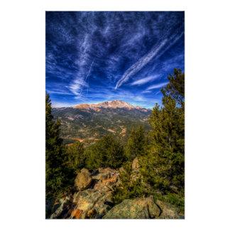 Pico de los lucios y cielo azul perfect poster