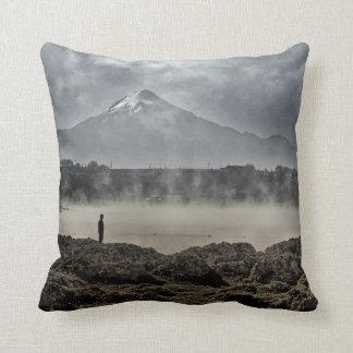 Pico De Orizaba From Achichic Lake In Puebla Throw Pillow