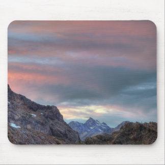 Pico del argonauta, puesta del sol alfombrillas de raton