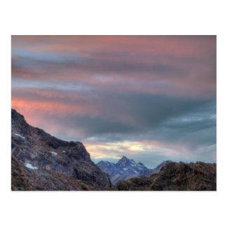 Pico del argonauta, puesta del sol postal