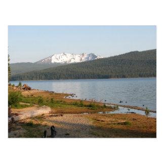 Pico del diamante, Oregon del lago creciente Tarjeta Postal