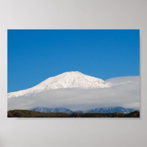 Pico del este de San Bernardino después del nevada Póster