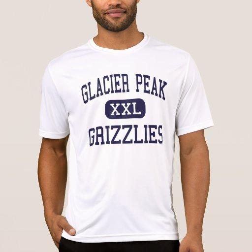 Pico del glaciar - grisáceos - alto - Snohomish Camisetas