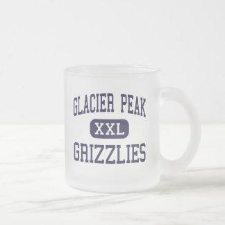 Pico del glaciar - grisáceos - alto - Snohomish Tazas De Café