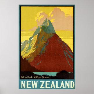 Pico del inglete del ~ de Nueva Zelanda Impresiones