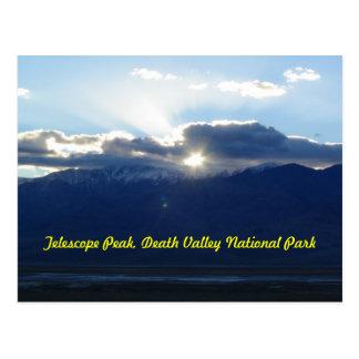 Pico del telescopio en Death Valley Tarjetas Postales
