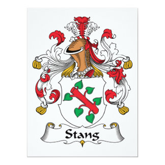 Picó el escudo de la familia invitación 16,5 x 22,2 cm