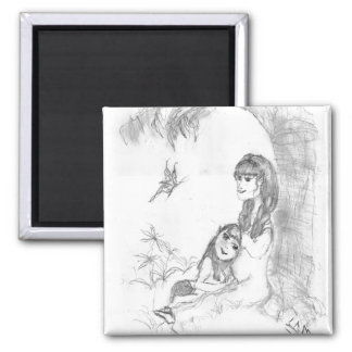 Pico & mother1 2 inch square magnet