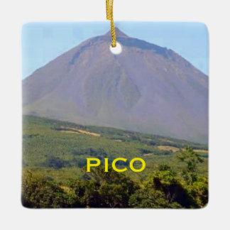 Pico Mountain Azores Christmas Ornament