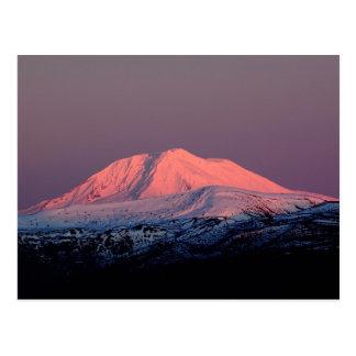 Pico nevado de Adams del soporte en la postal de l