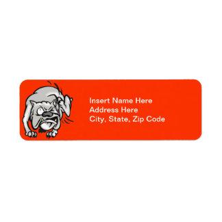 Picor del perro etiqueta de remitente