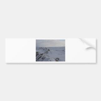 Picos congelados etiqueta de parachoque