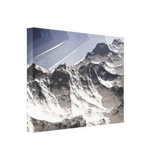 Picos de montaña árticos lona envuelta para galerías