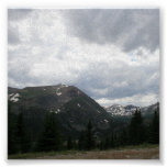 Picos de montaña poster