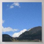 Picos de montaña posters