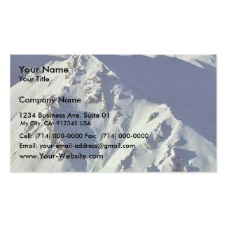 Picos de montaña - visión aérea tarjeta personal