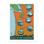 Picos del noroeste - 5 diversas montañas tarjeta postal
