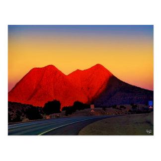 Picos gemelos o picos de la hermana, alpinos, TX Tarjeta Postal