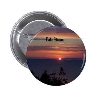 pics 154, Lake Huron Pinback Button
