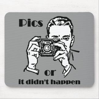 Pics or it Didn't Happen Retro Mouse Pad