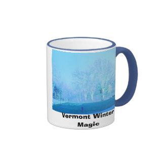 PICT0392, magia del invierno de Vermont Taza De Dos Colores