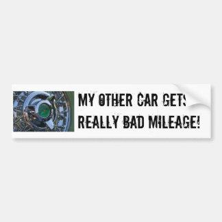 ¡PICT7191, mi otro coche consigue kilometraje real Pegatina Para Auto