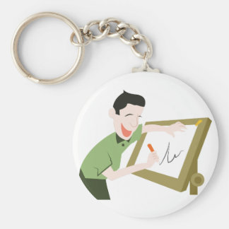 Pictionary Basic Round Button Keychain