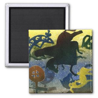 Pictish Horsemen 2 Inch Square Magnet